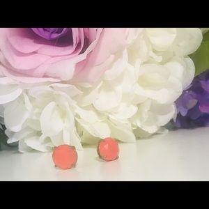 Stella & Dot large coral stud earrings